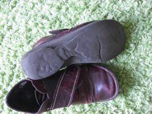 Durchgelaufene Schuhe