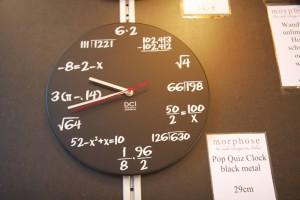 Uhr, Höhere Mathematik